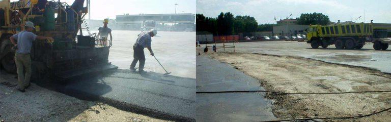 """Lavori di consolidamento ed asfaltatura raffineria """"API"""" di Falconara Marittima"""