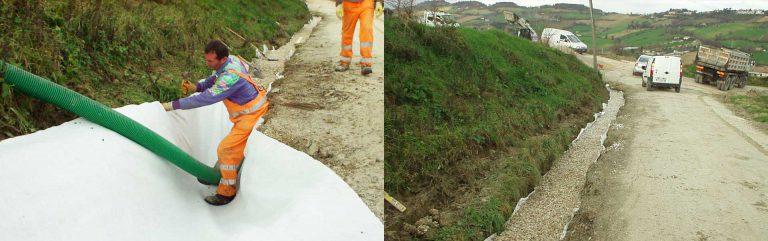 Realizzazione drenaggi per la regimentazione delle acque piovane